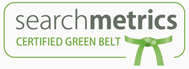 Searchmetrics Certified Professional Green-Belt-Badge für Denis Hückel